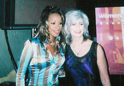 Mary J Blige and Emmylou Harris Women Who Rock Breast Cancer Concert 2001 Los Angeles