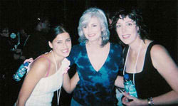 Nelly Furtado, Emmylou Harris and Beth Nielson Chapman at Women Who Rock Breast Cancer Concert 2001 Los Angeles