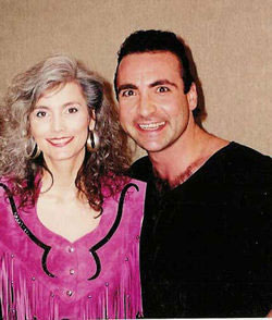 Emmylou Harris and Rique at Emmylou's Induction to the Grand Ol'e Opry 1993